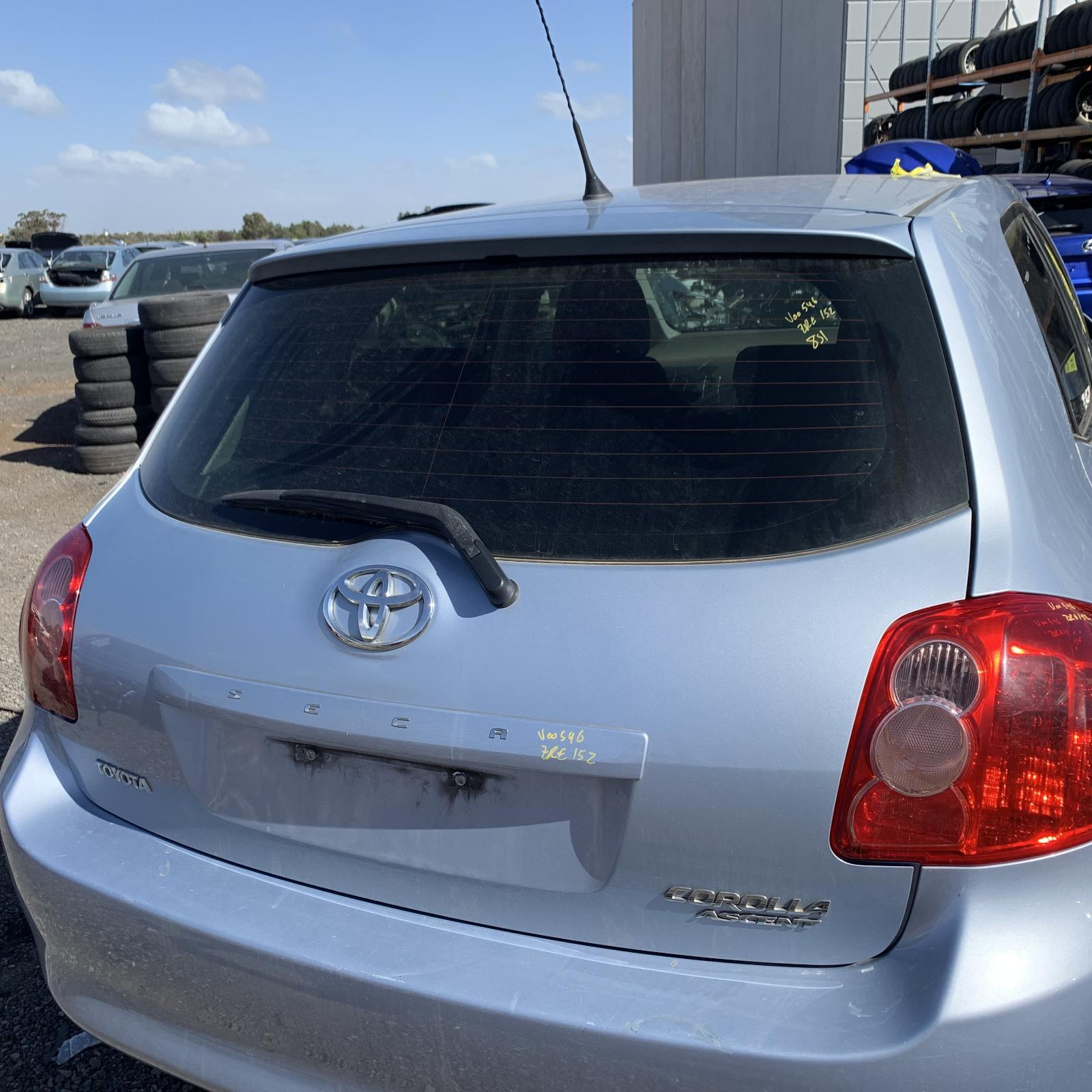 TOYOTA COROLLA, Bootlid/Tailgate, TAILGATE, ZRE152R, ASCENT, HATCH, NON SPOILER TYPE, 03/07-09/09