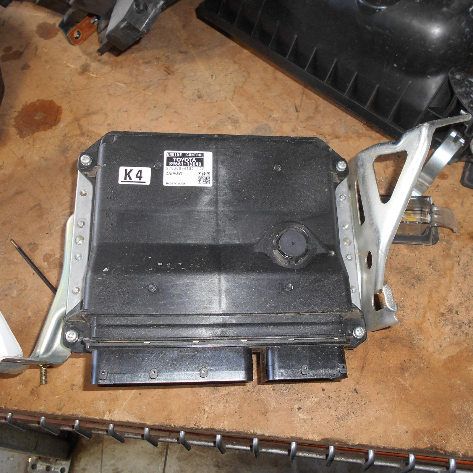 TOYOTA COROLLA, Ecu, ENGINE ECU, AUTO T/M TYPE, 89661-12K40, ECU ONLY, ZRE152/153R, 03/07-10/13