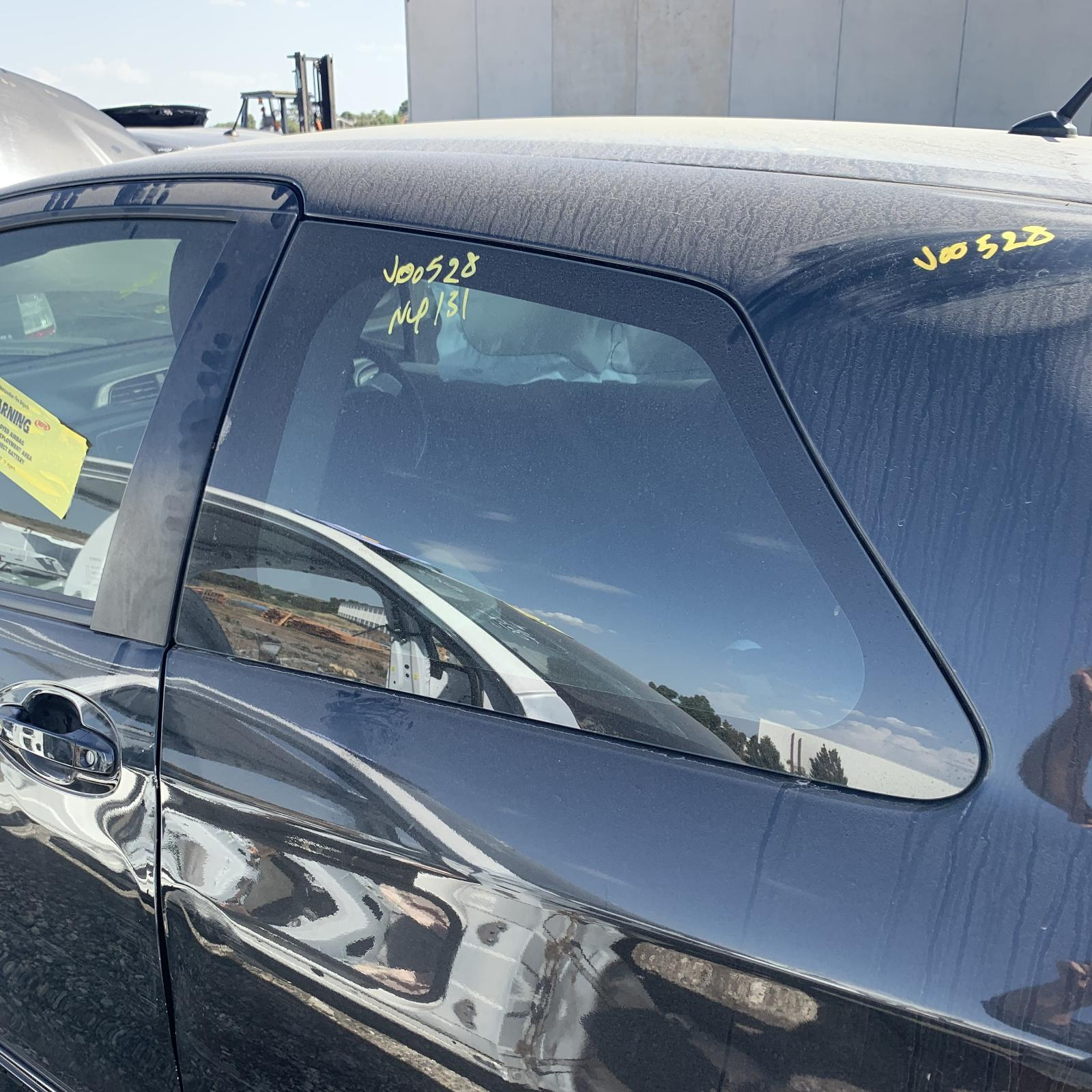 TOYOTA YARIS, Left Rear Side Glass, NCP13#, 3DR HATCH, 10/11-06/14