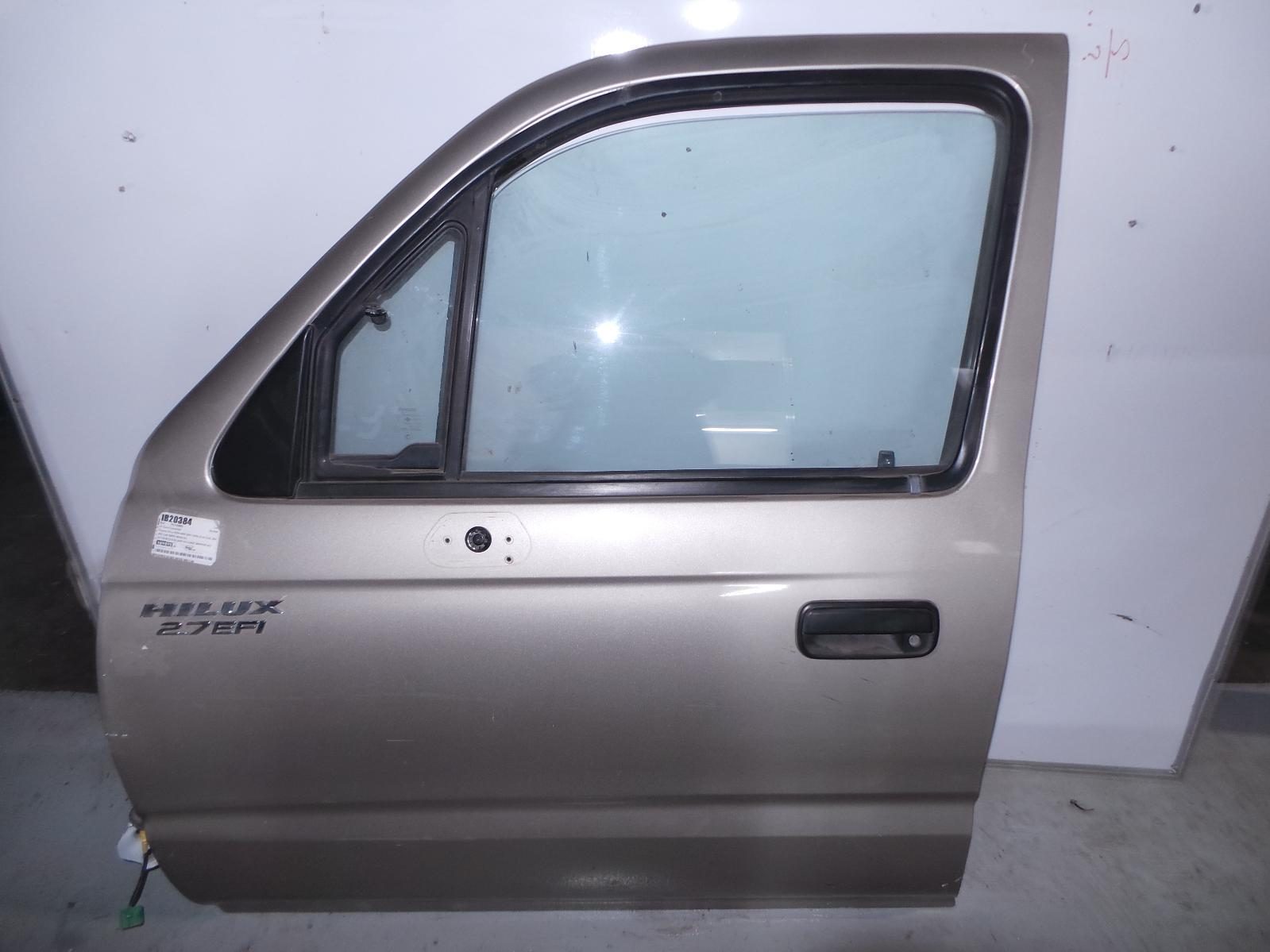 TOYOTA HILUX, Left Front Door, DUAL CAB, UTE BACK, 1/4 GLASS TYPE, 09/97-03/05
