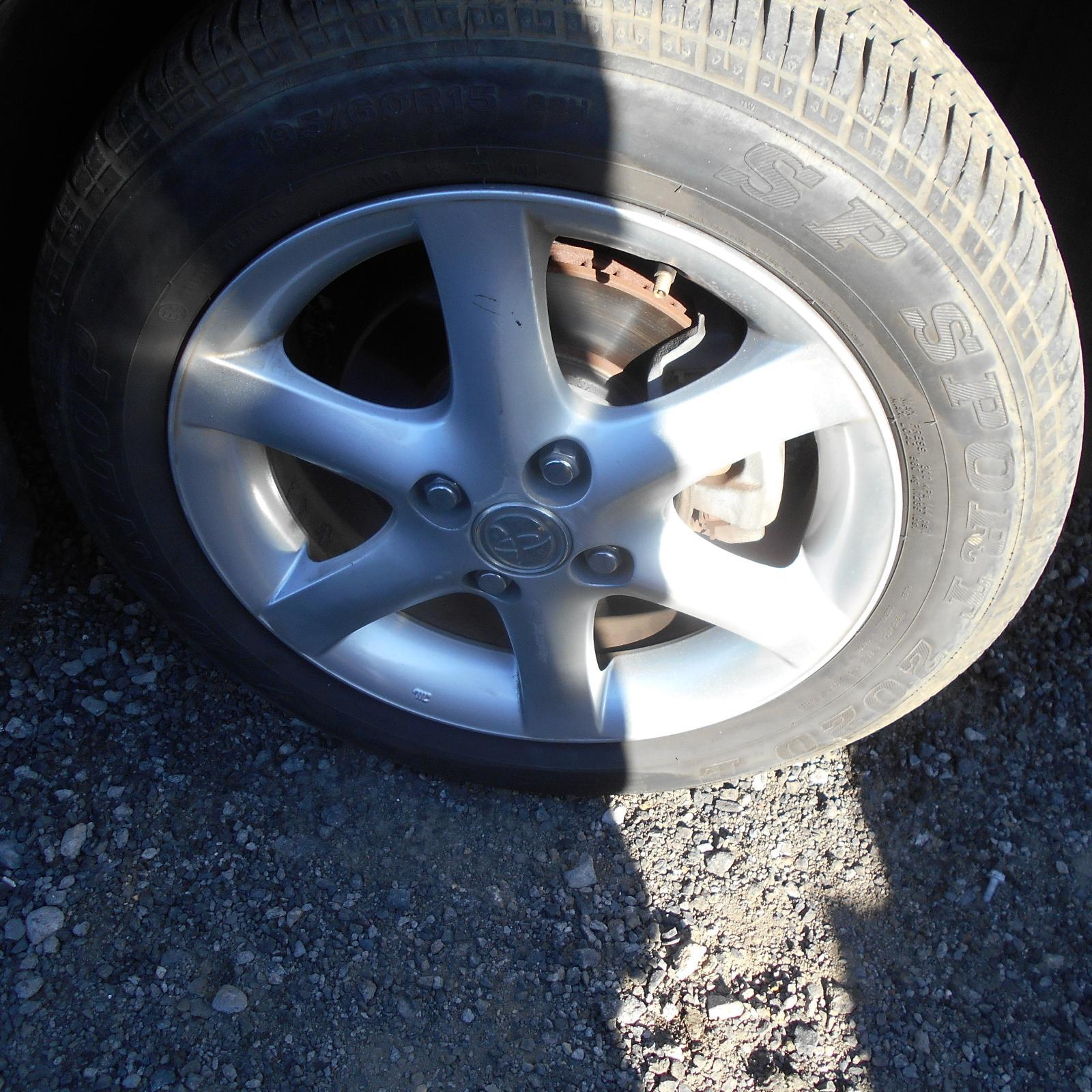 TOYOTA COROLLA, Wheel Mag, FACTORY, 15X6.0IN, ZZE122, 12/01-06/07