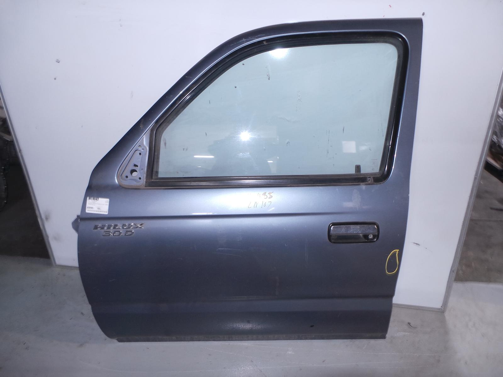 TOYOTA HILUX, Left Front Door, DUAL CAB, UTE BACK, FULL GLASS TYPE, 09/97-03/05