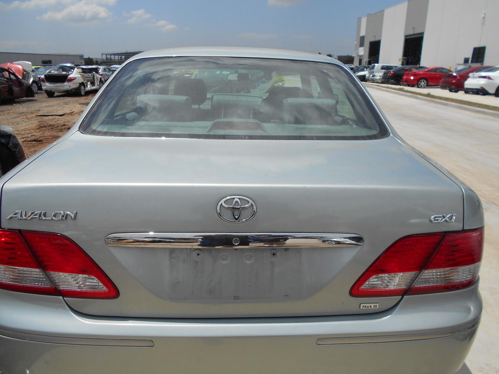 TOYOTA AVALON, Bootlid/Tailgate, BOOTLID, MCX10R, NON SPOILER TYPE, 10/03-06/05
