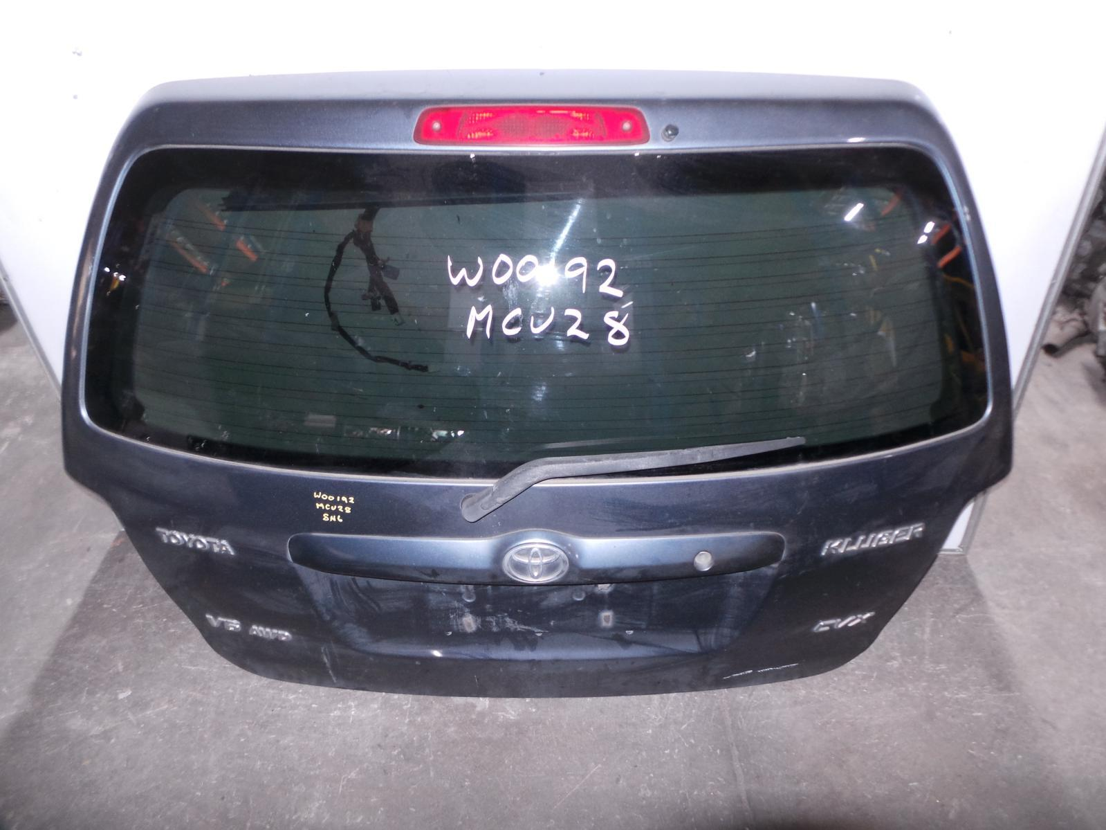 TOYOTA KLUGER, Bootlid/Tailgate, MCU28R, SPOILERED TYPE, 01/01-07/07