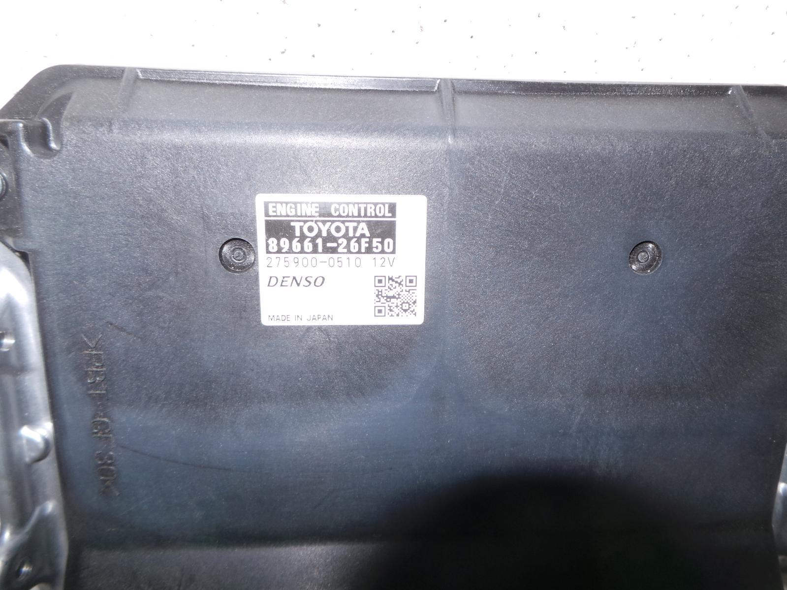 TOYOTA HIACE, Ecu, ENGINE ECU, 3.0, DIESEL, P/N 89661-26F50, ECU ONLY, KDH, 09/06-