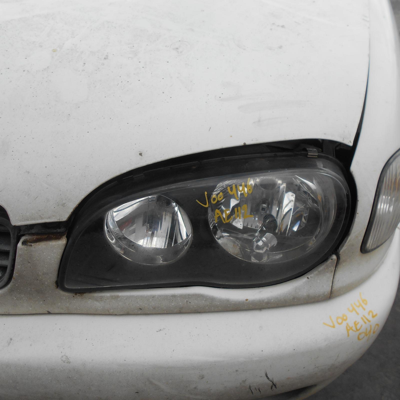 TOYOTA COROLLA, Left Headlamp, AE112, SEDAN & SECA, 10/99-11/01