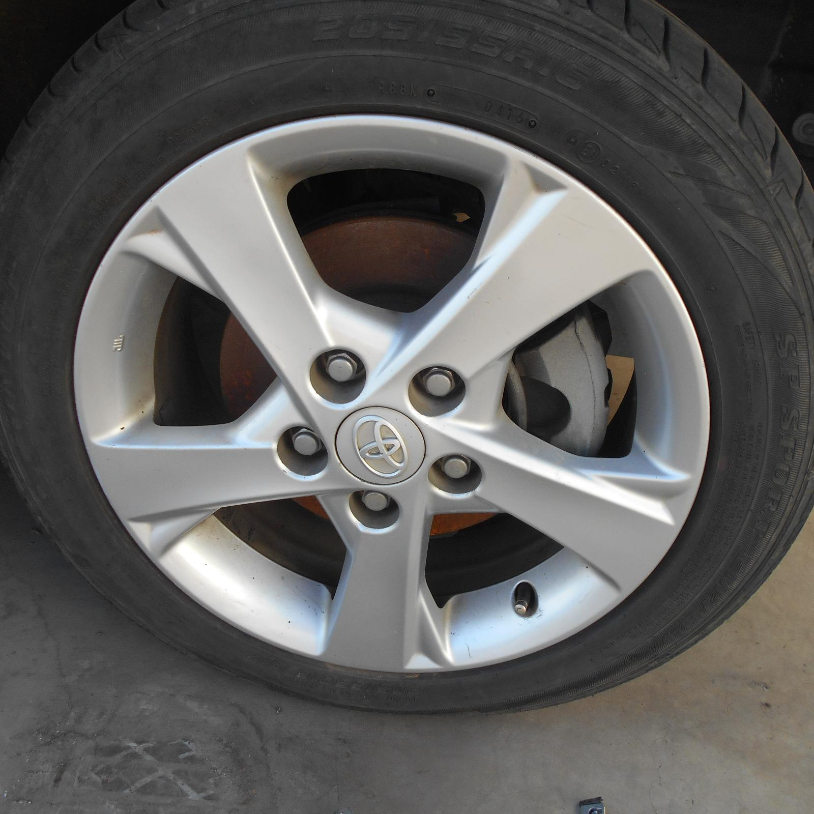 TOYOTA COROLLA, Wheel Mag, FACTORY, 16X6.5IN, ZRE152/153R, 5 BACK SPLIT STYLE, 03/07-10/13