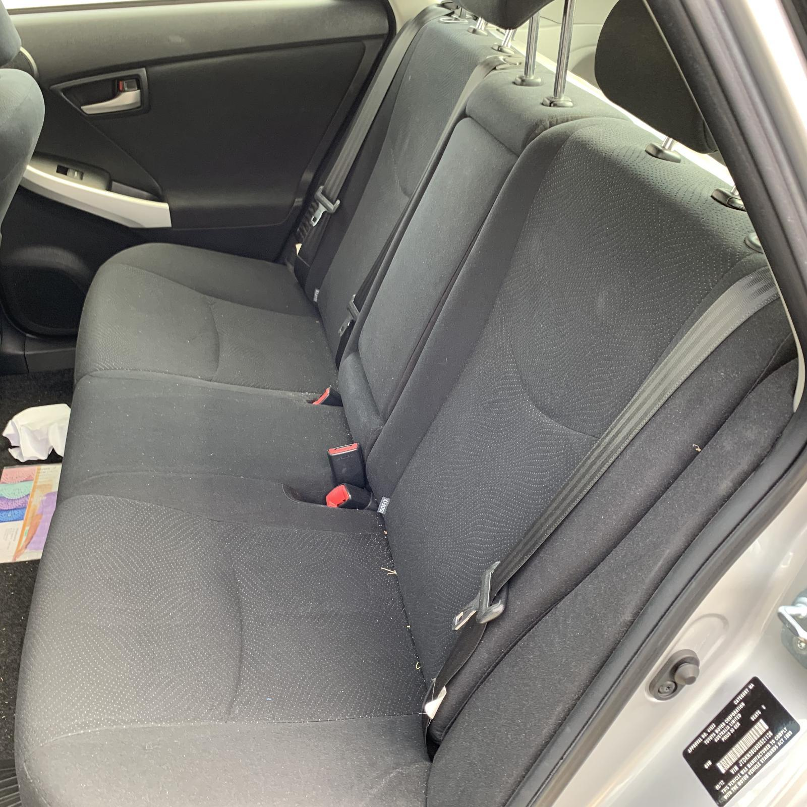 TOYOTA PRIUS, 2nd Seat (Rear Seat), LH REAR, ZVW30R, CLOTH, GREY, 07/09-12/15