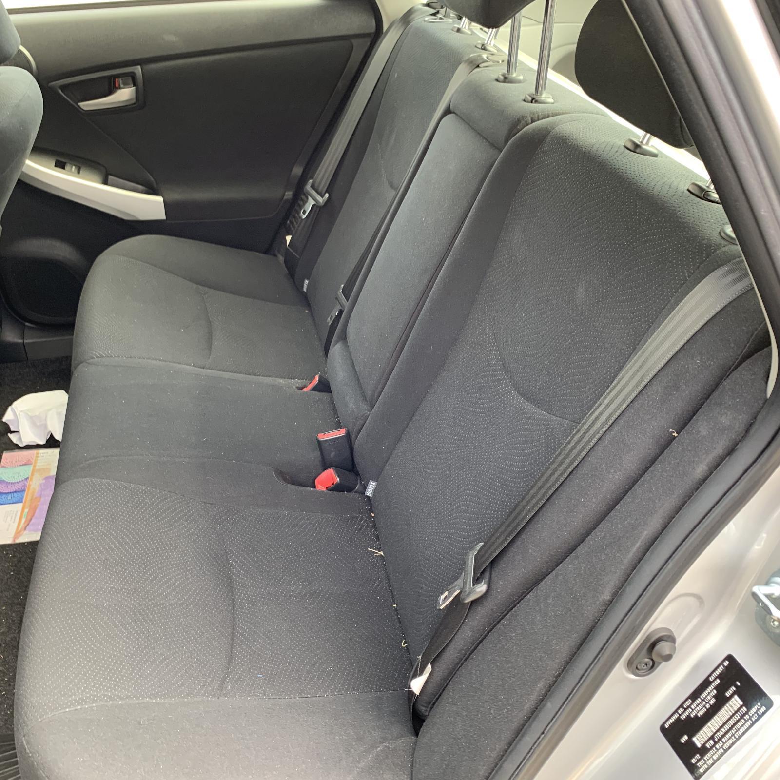 TOYOTA PRIUS, 2nd Seat (Rear Seat), LH REAR, ZVW30R, CLOTH, GREY, 07/09-12/15