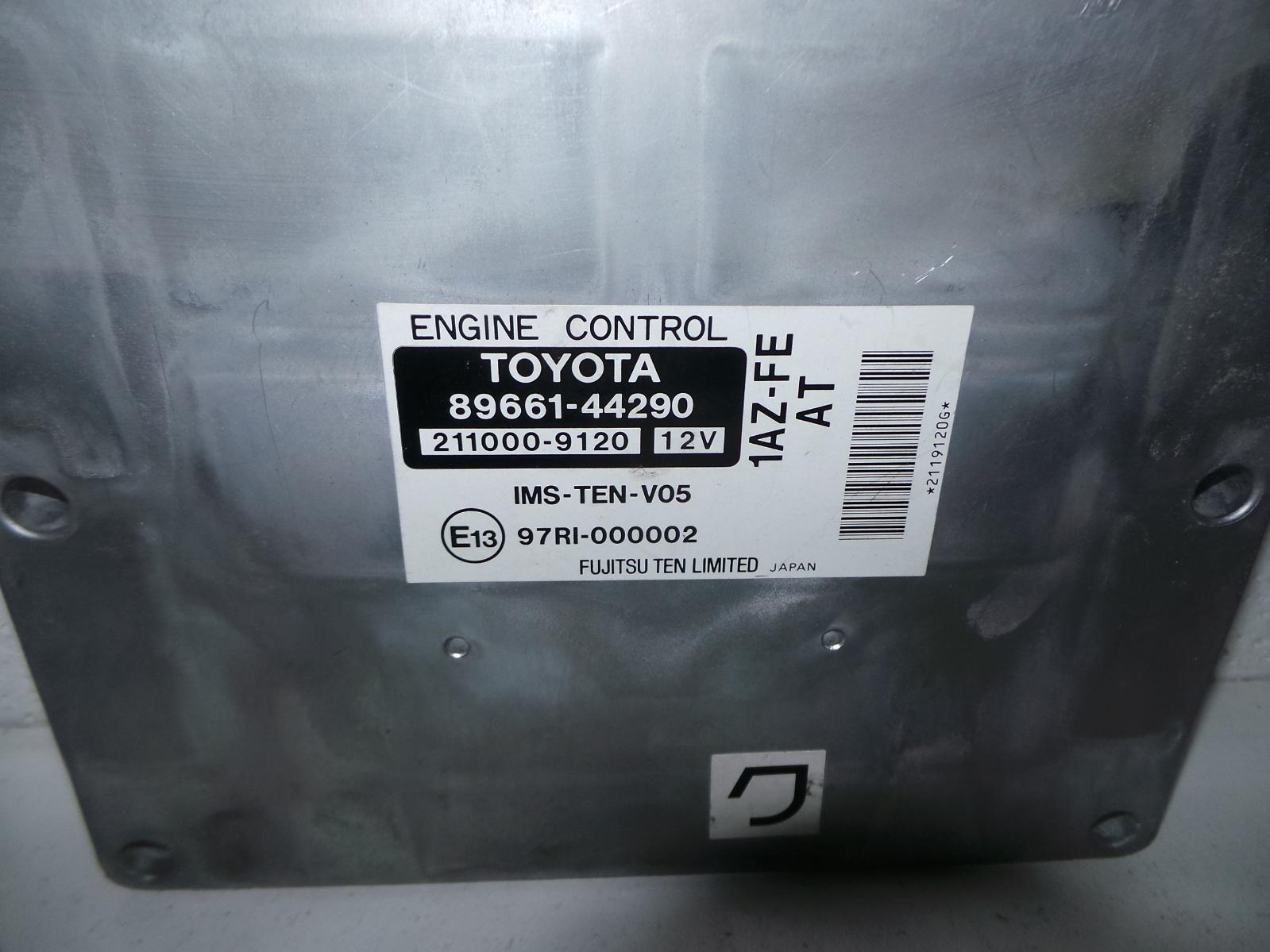 TOYOTA AVENSIS, Ecu, ENGINE ECU, 2.0, 1AZ-FE, PETROL, ECU ONLY, ACM20R, 12/01-11/03