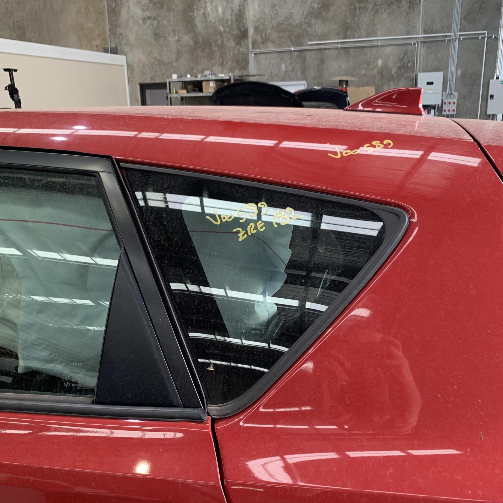 TOYOTA COROLLA, Left Rear Side Glass, ZRE182R, 10/12-