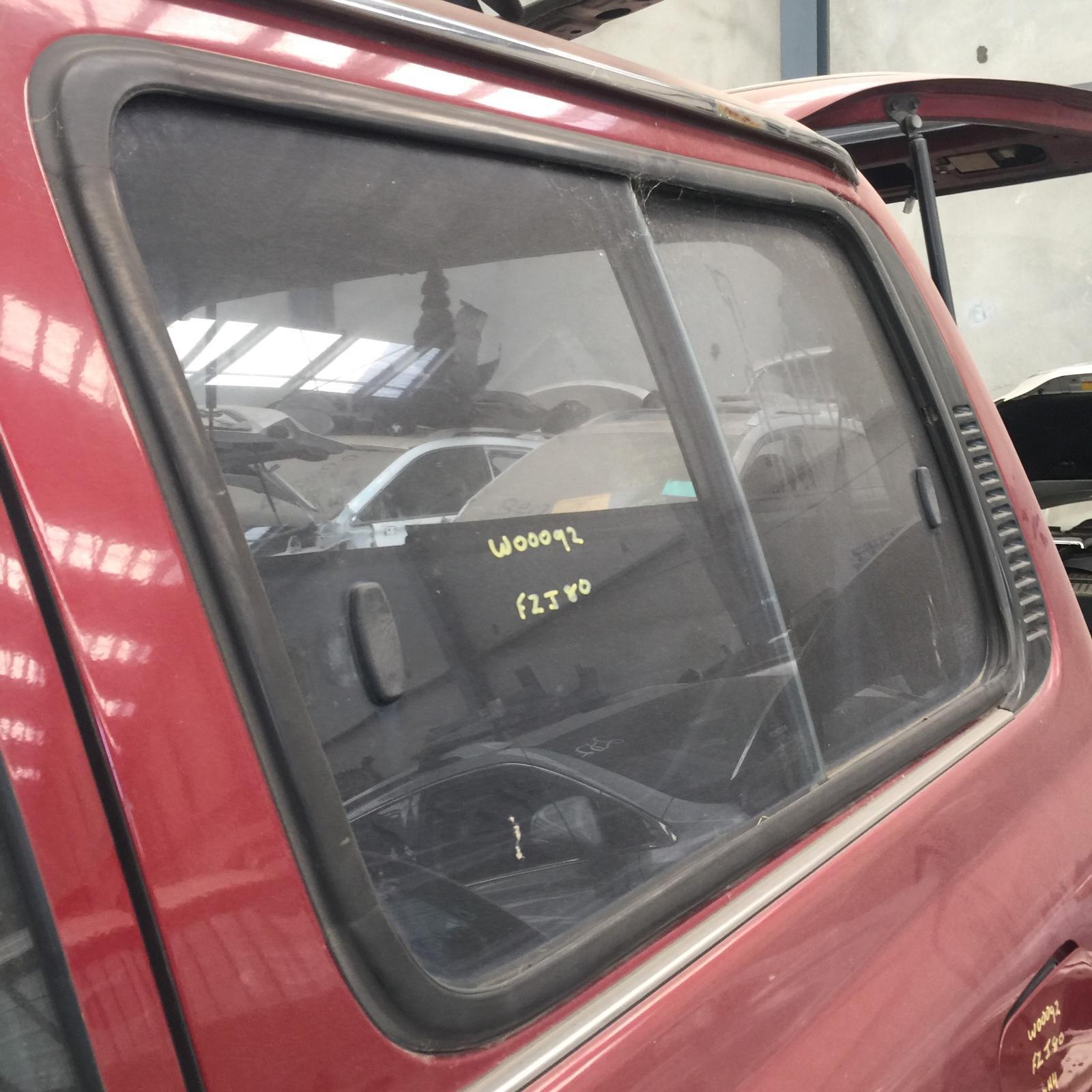 TOYOTA LANDCRUISER, Left Rear Side Glass, 80 SERIES, SLIDING GLASS TYPE, 05/90-03/98