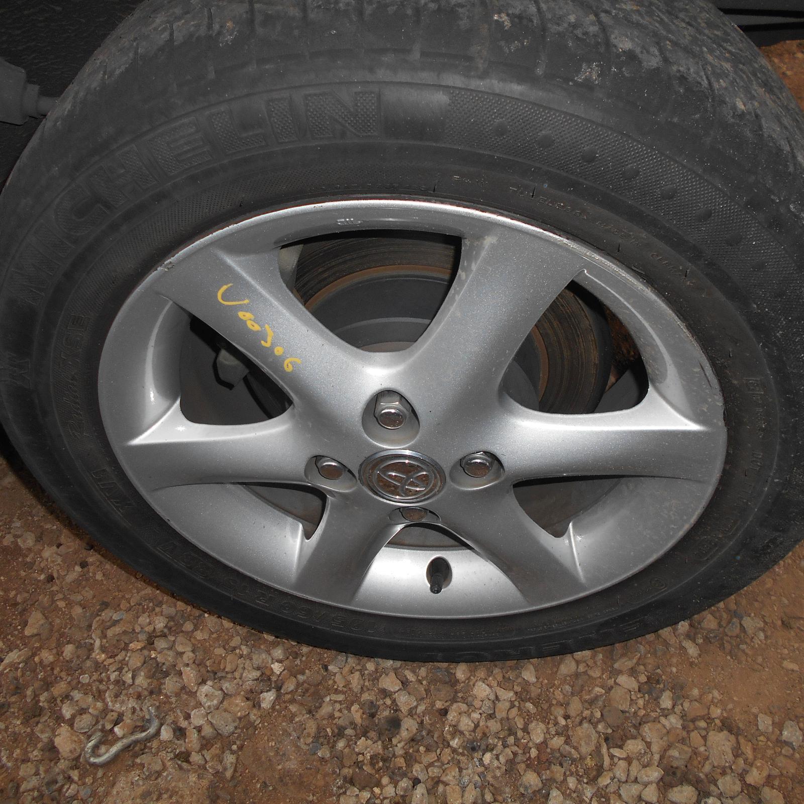 TOYOTA COROLLA, Wheel Mag, FACTORY, 15X6.0IN, ZZE122, 12/01-06/07
