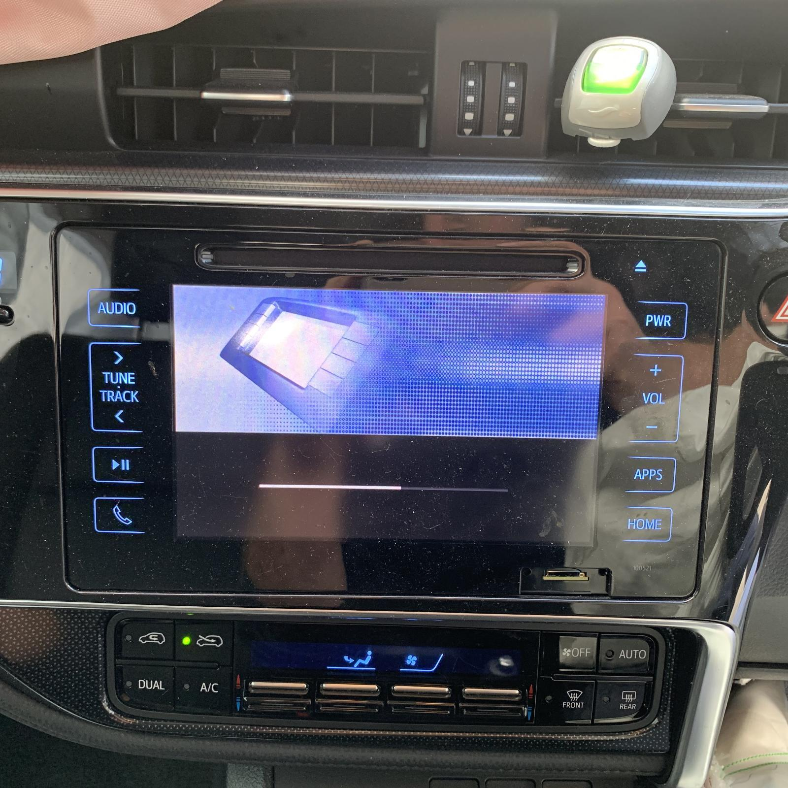 TOYOTA COROLLA, Radio/Cd/Dvd/Sat/Tv, 7IN TOUCH SCREEN (P/N ON FACE 100521), ZRE182R, HATCH, 03/15-
