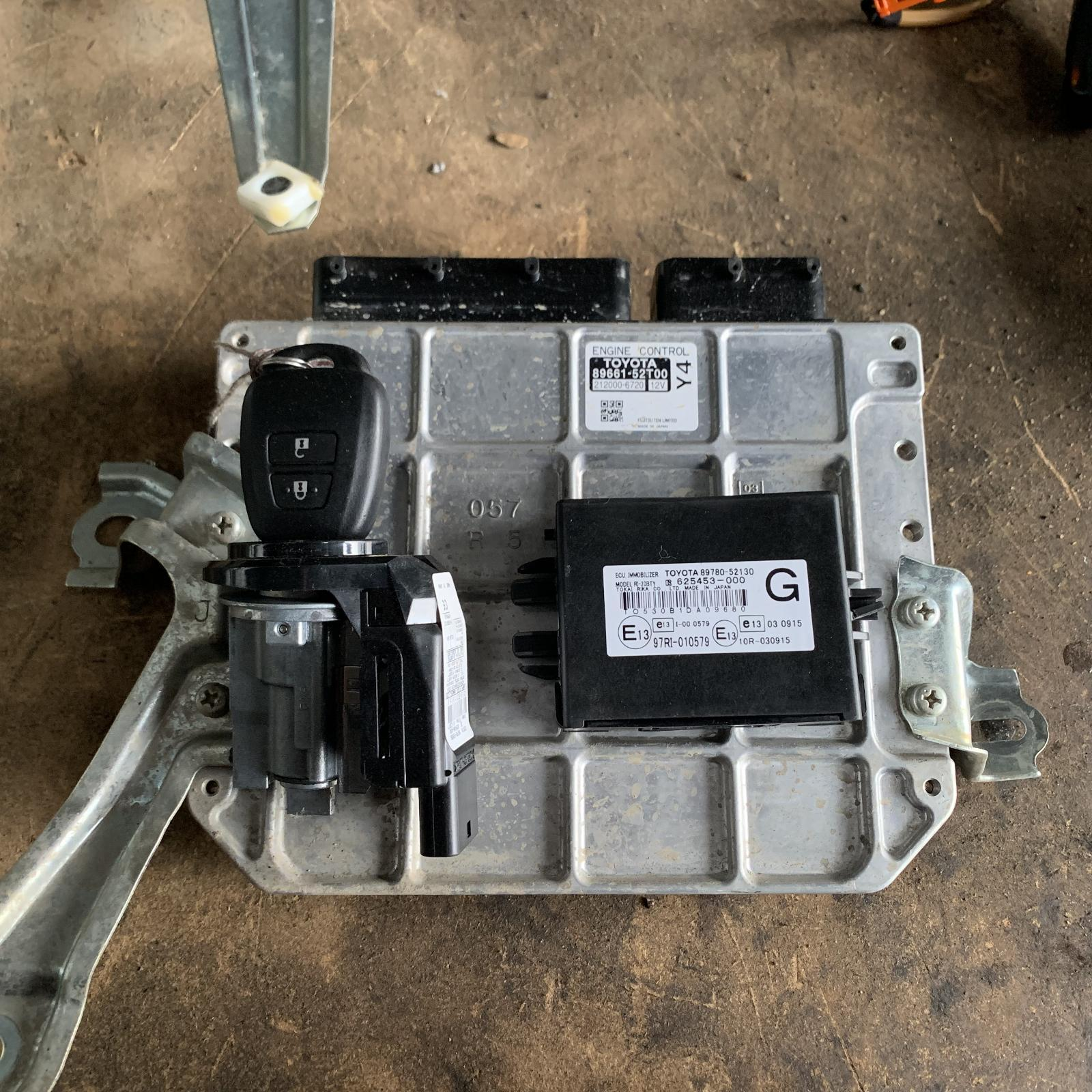 TOYOTA YARIS, Ecu, ENGINE ECU, 1.3, 2NZ, AUTO, SEC SET (ECU/IMM/READER/KEY), NCP13#, 11/11-