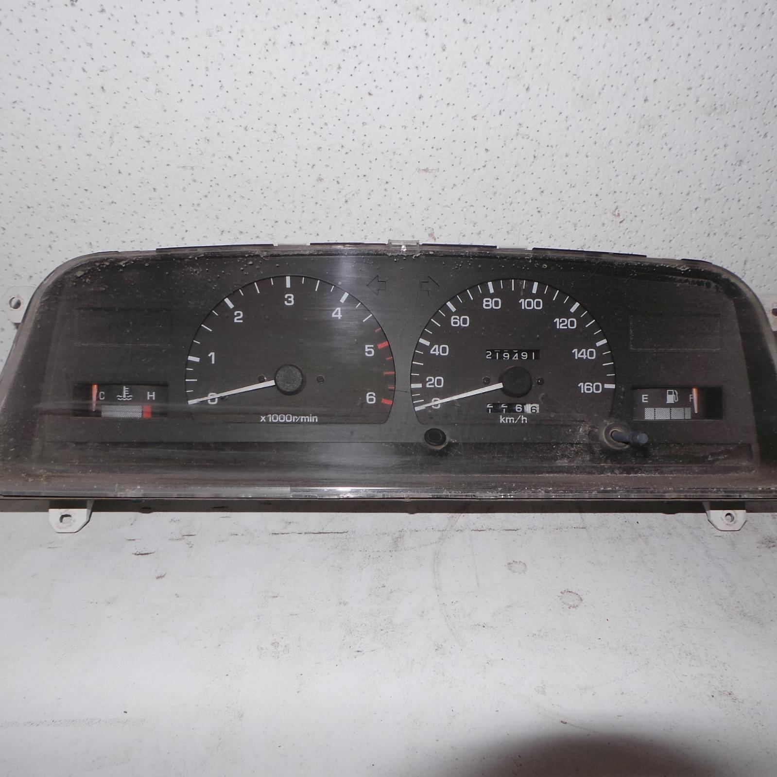 TOYOTA HILUX, Instrument Cluster, CLUSTER STANDARD, DIESEL, CABLE TYPE SPEEDO, 10/88-09/97