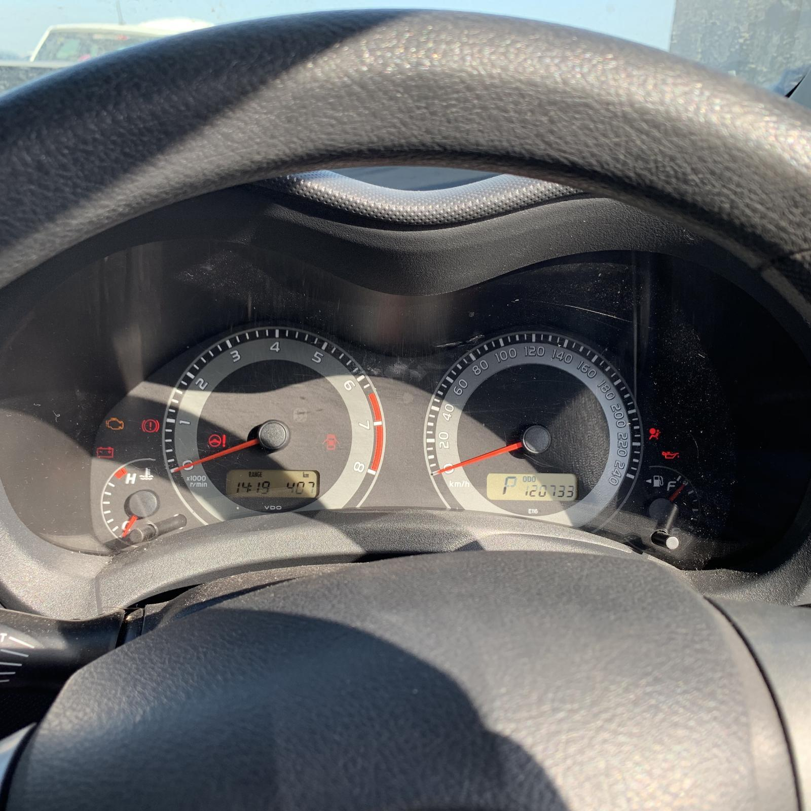 TOYOTA COROLLA, Instrument Cluster, AUTO, ZRE152R, HATCH, STANDARD TYPE, 12/09-09/12