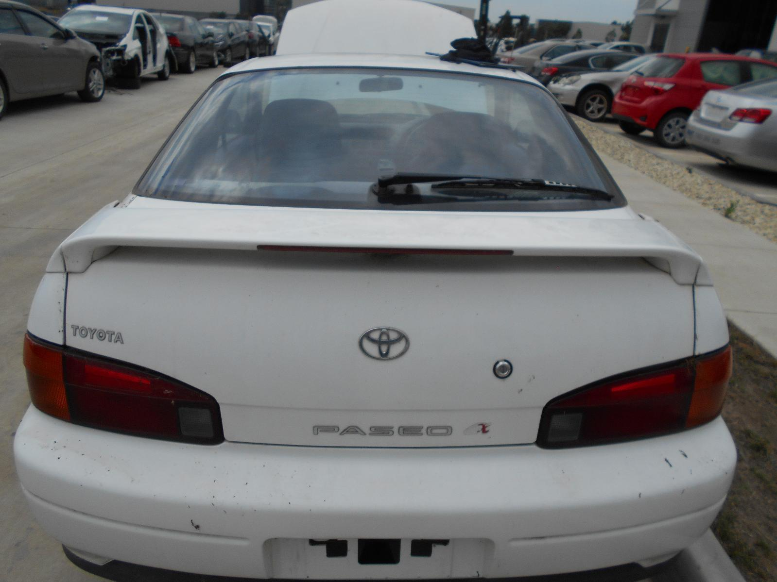TOYOTA PASEO, Bootlid/Tailgate, BOOTLID, EL44, SPOILERED TYPE, 06/91-11/95