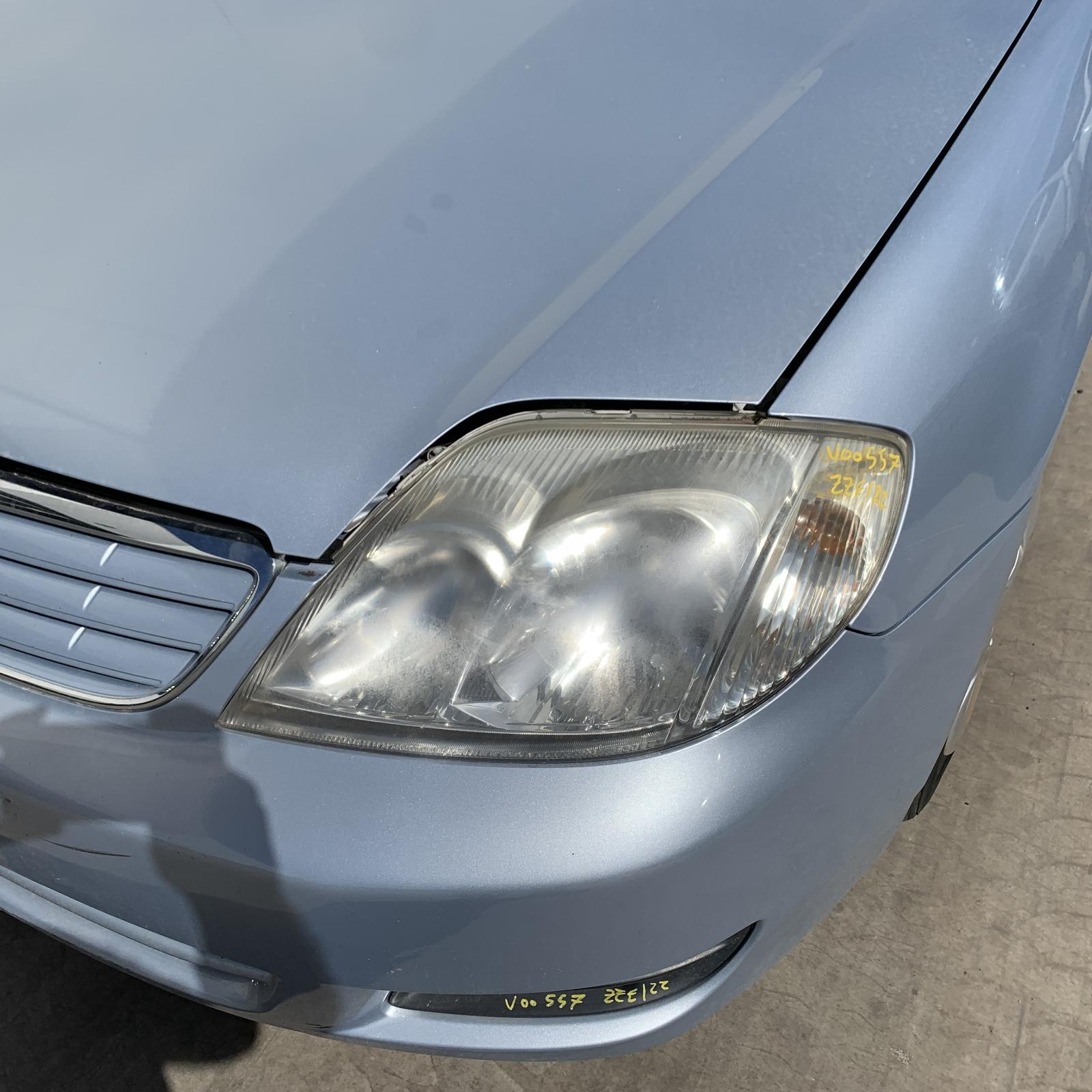 TOYOTA COROLLA, Left Headlamp, ZZE122 (JAPAN-VIN JTD), SEDAN/WAGON, 04/04-06/07