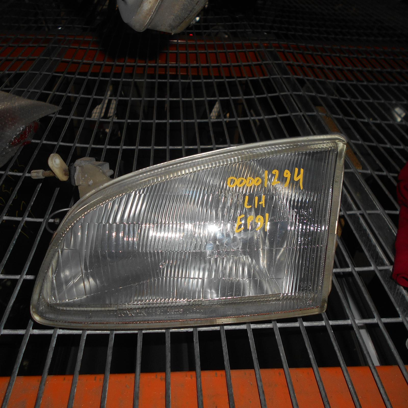 TOYOTA STARLET, Left Headlamp, EP91, KOITO LENS# 10-79, 03/96-09/99