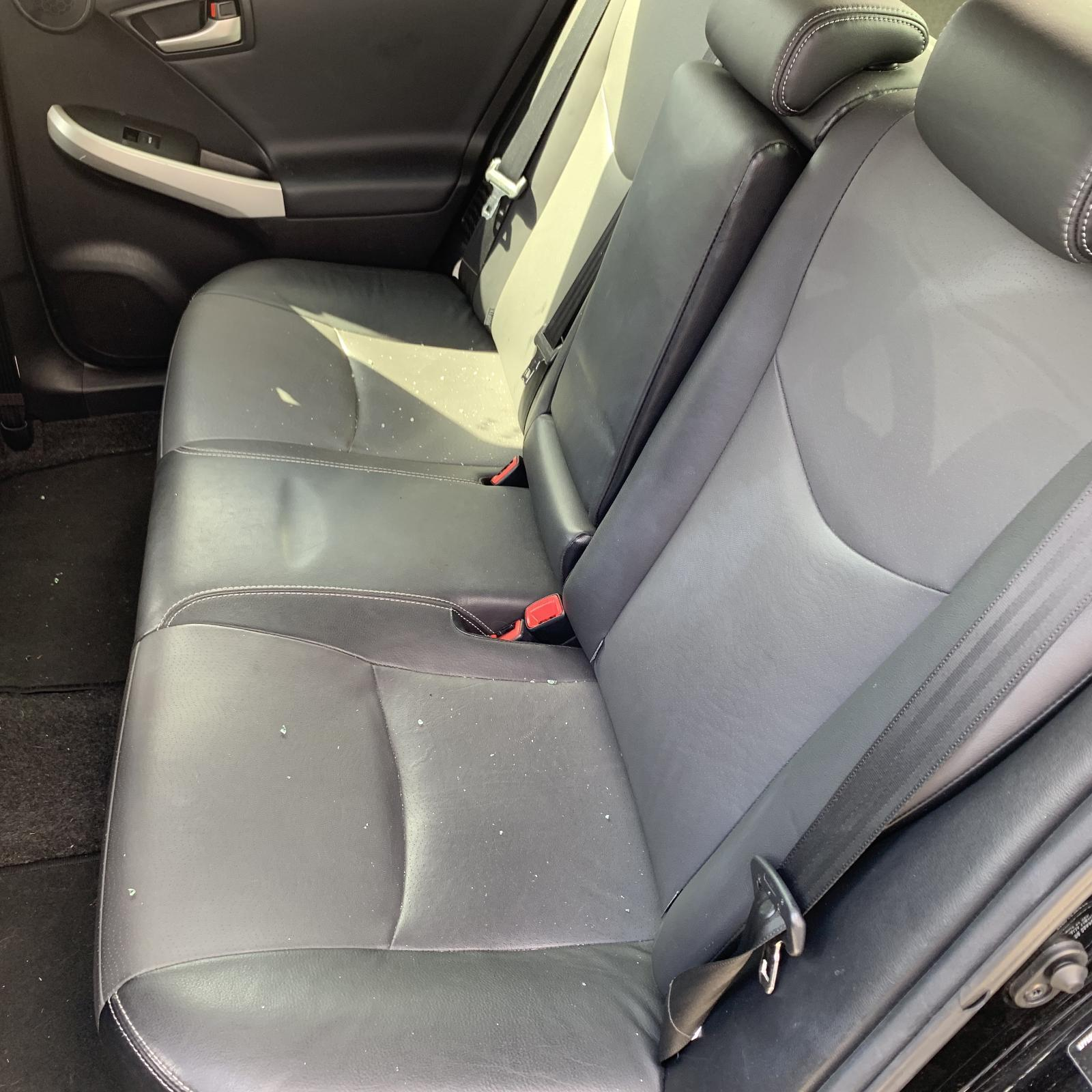 TOYOTA PRIUS, 2nd Seat (Rear Seat), LH REAR, ZVW30R, LEATHER, GREY, 07/09-12/15