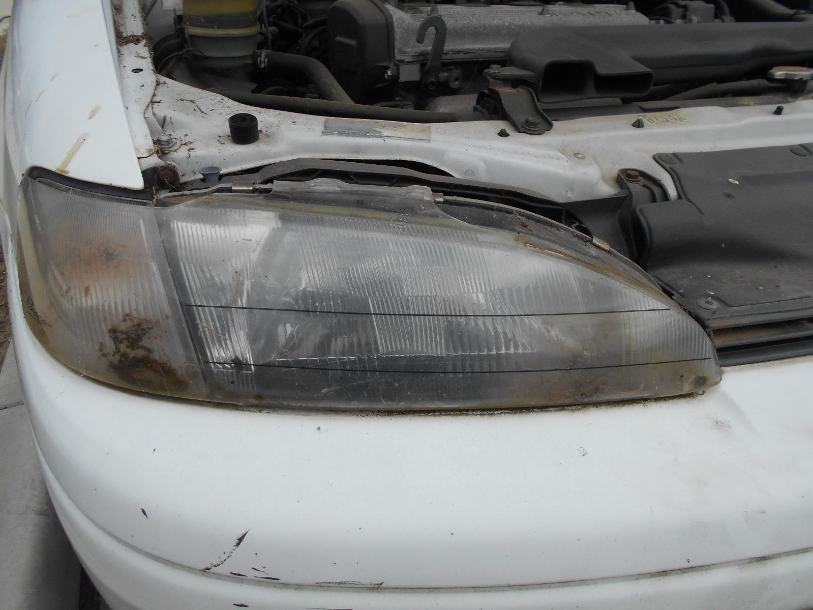 TOYOTA PASEO, Right Headlamp, EL44 JAP TYPE (1 PIECE WITH C/LIGHT) 06/91-11/95