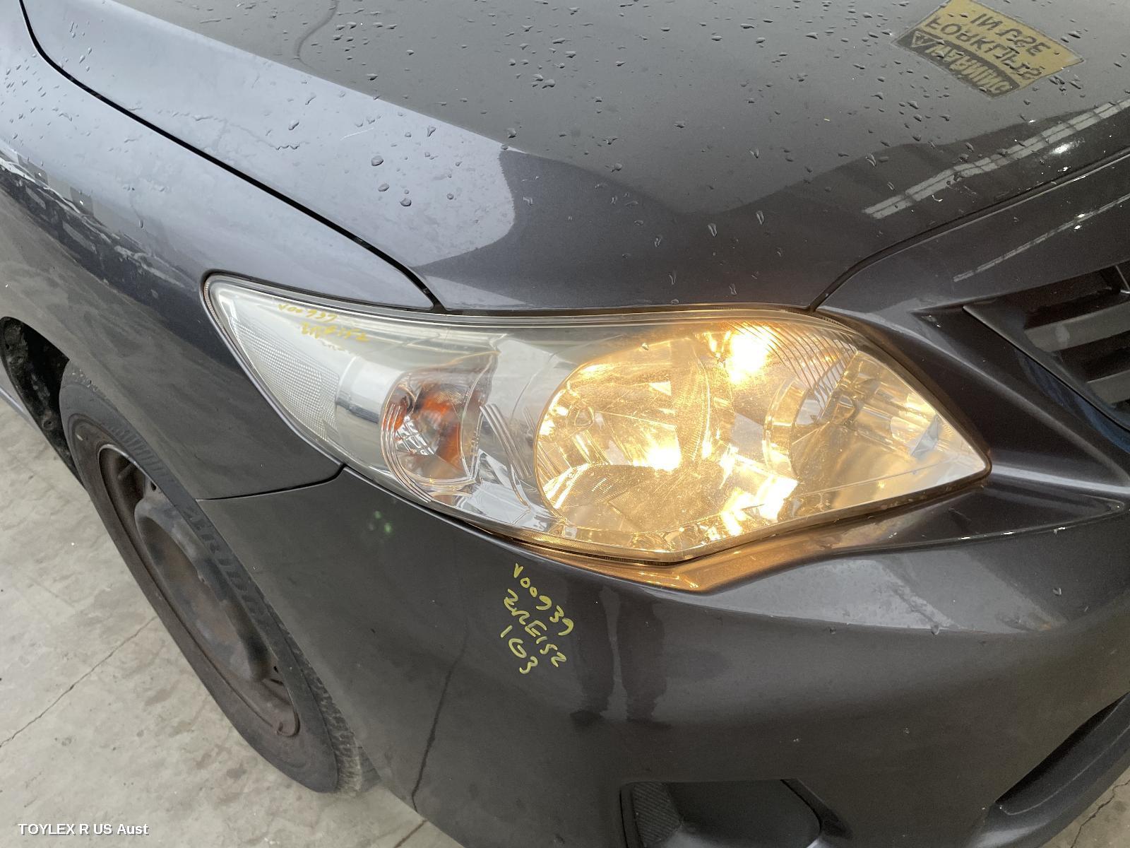 TOYOTA COROLLA, Right Headlamp, ZRE152/153R, SEDAN, HALOGEN TYPE, 11/09-12/13