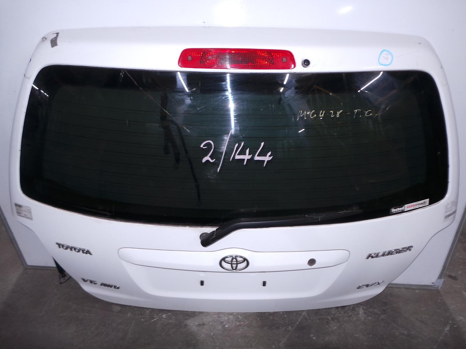 TOYOTA KLUGER, Bootlid/Tailgate, TAILGATE, MCU28R, SPOILERED TYPE, 01/01-07/07