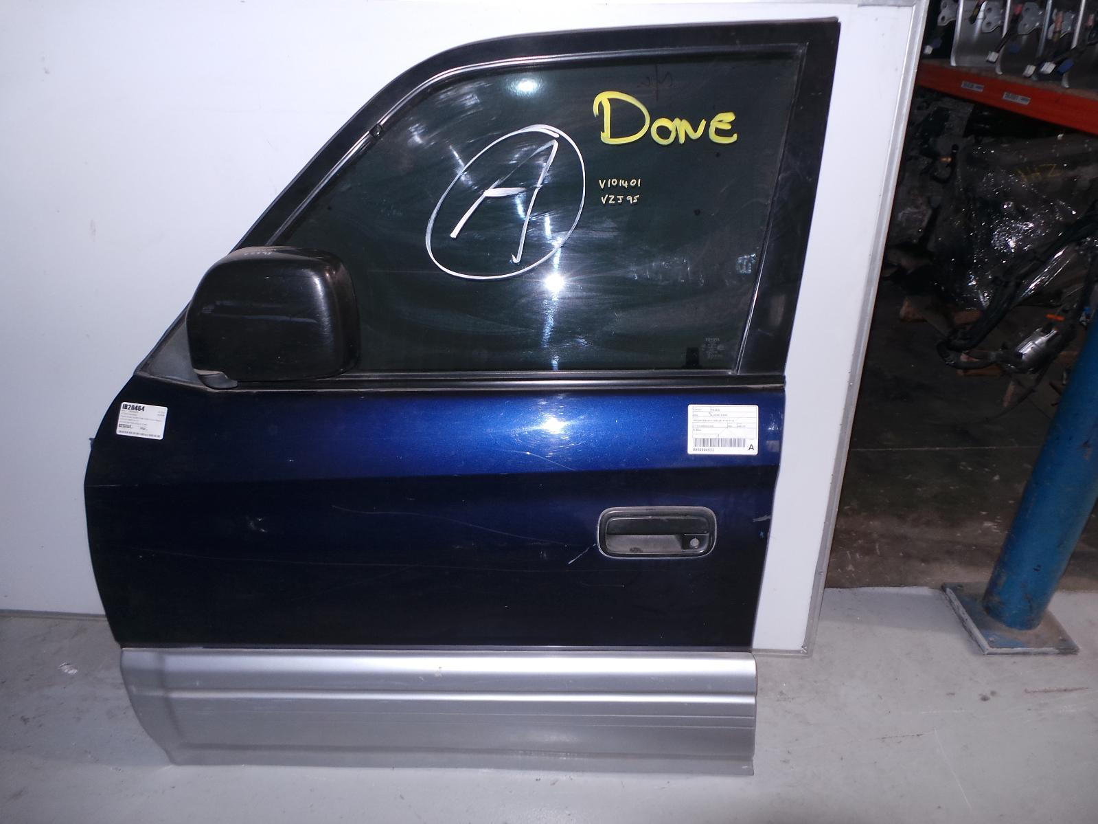 TOYOTA PRADO, Left Front Door, 95 SERIES, W/ MOULD (GXL,VX), 07/96-01/03
