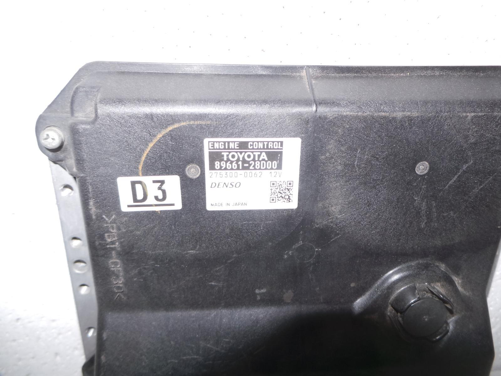 TOYOTA TARAGO, Ecu, ENGINE ECU, 3.5, 2GR-FE, ECU ONLY, ACR50R, 02/07-
