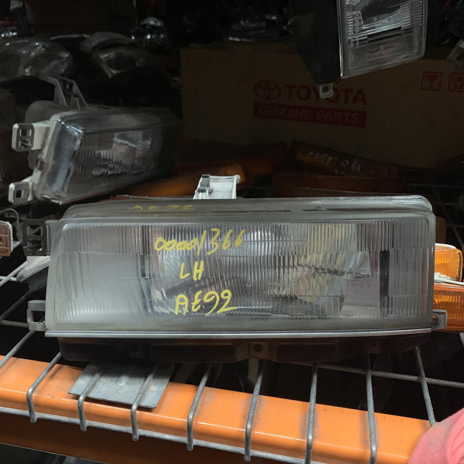 TOYOTA COROLLA, Left Headlamp, AE92, SECA, 06/89-08/94
