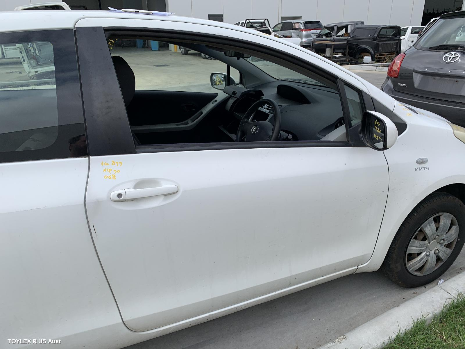 TOYOTA YARIS, Right Front Door, NCP9#, 3DR HATCH, 10/05-07/11 (AUS ONLY)