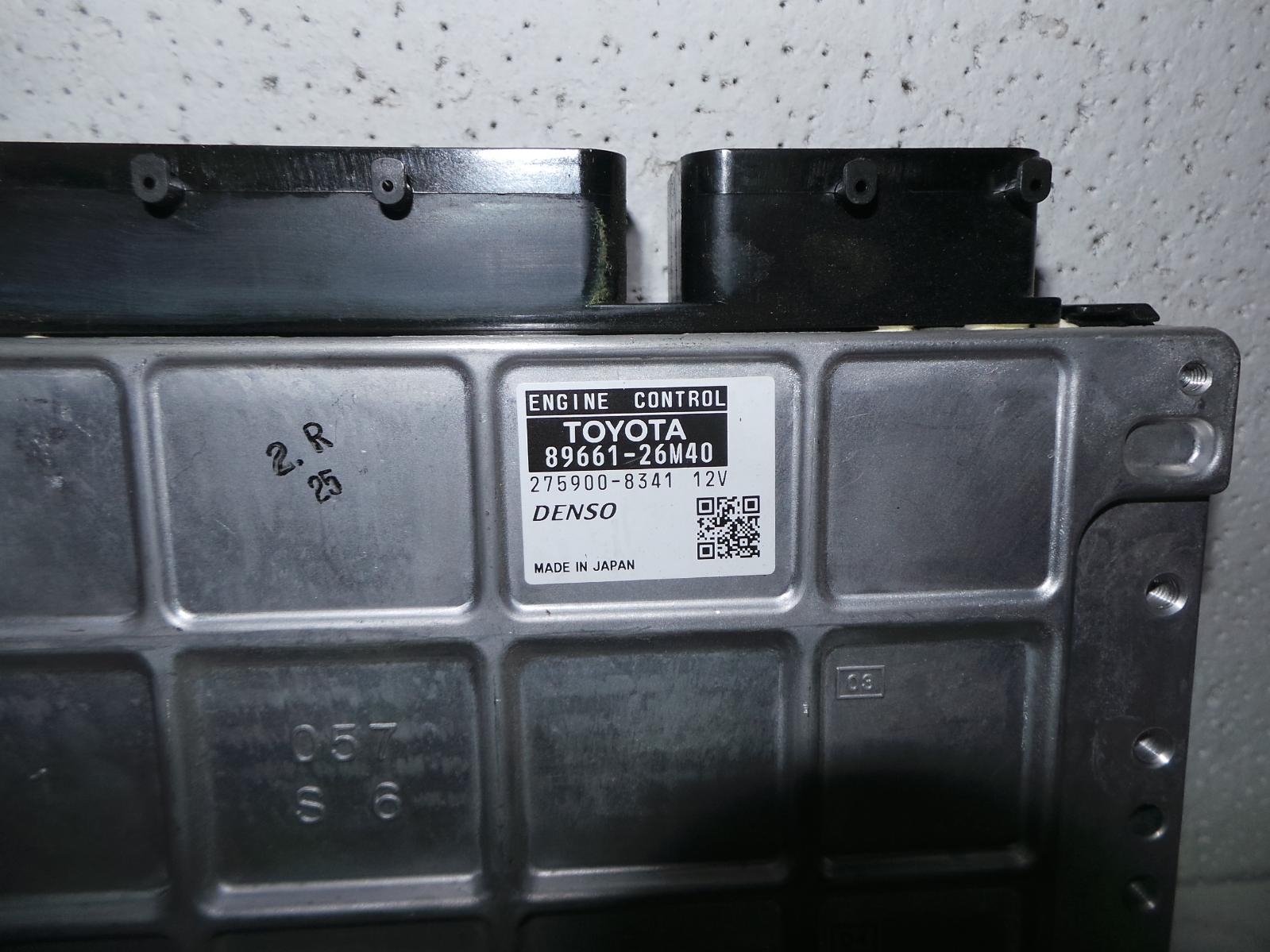 TOYOTA HIACE, Ecu, ENGINE ECU, 3.0, 1KD-FTV, DIESEL, P/N 89661-26M40, ECU ONLY, KDH, 09/06-