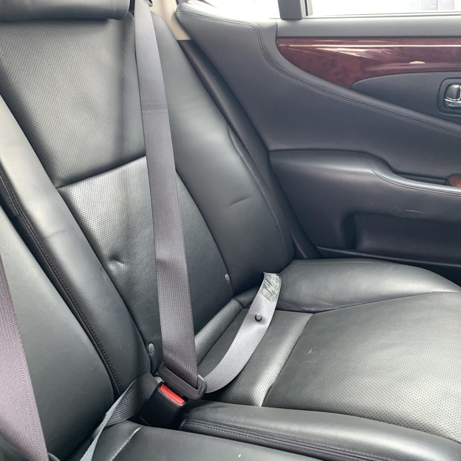 LEXUS LS460, Seatbelt/Stalk, LH REAR, SEAT BELT STALK ONLY, BLACK, 40 SERIES, 08/06-11/09