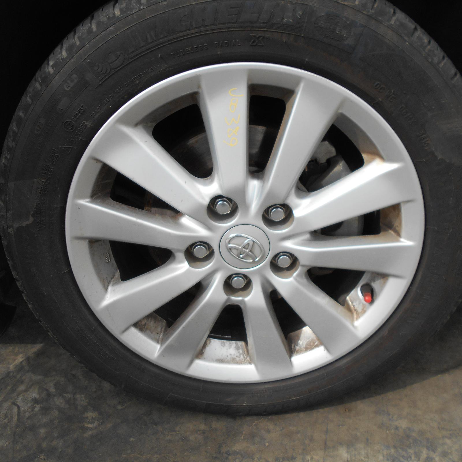 TOYOTA COROLLA, Wheel Mag, FACTORY, 16X6.5IN, ZRE152/153R, 5 V SPOKE, 03/07-10/13