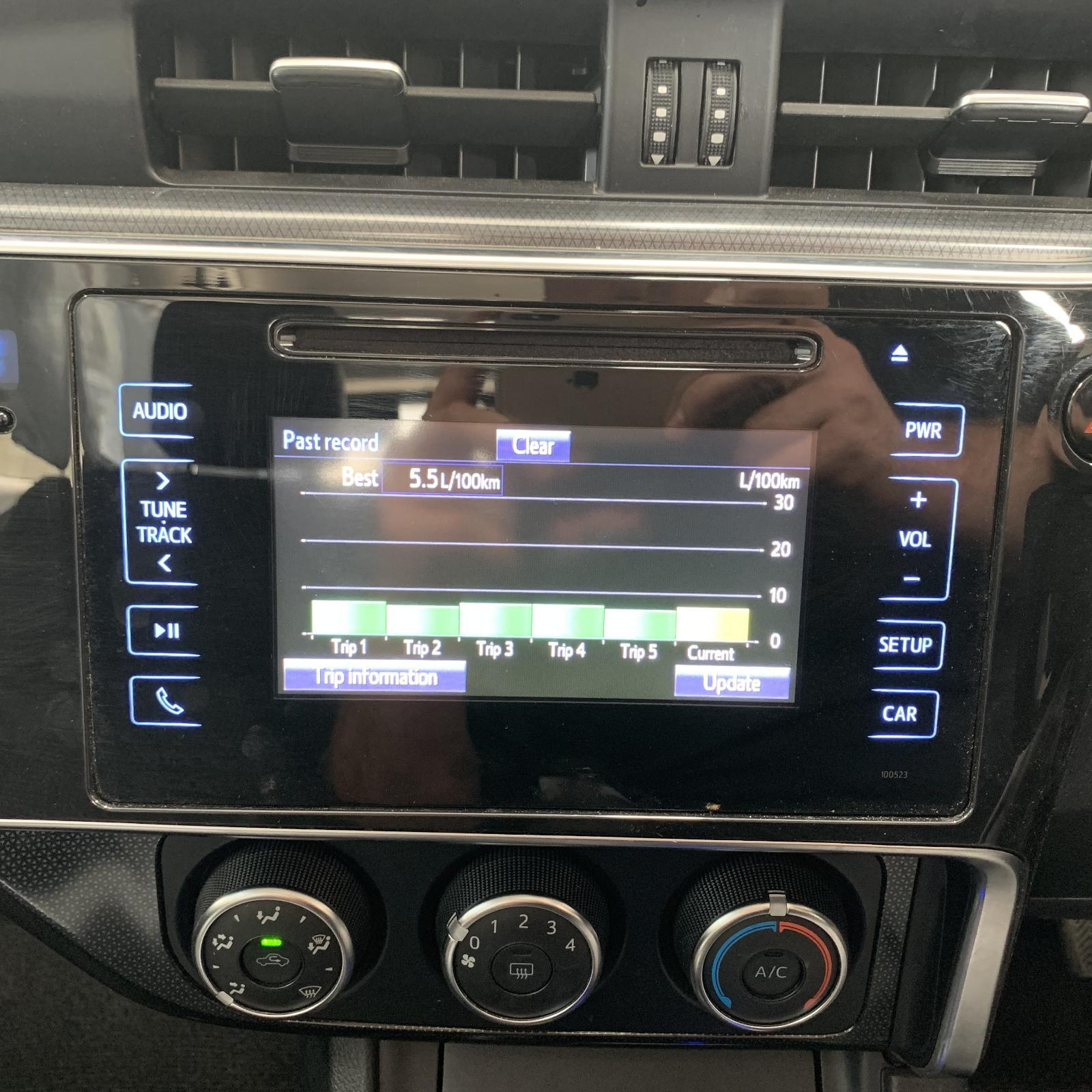 TOYOTA COROLLA, Radio/Cd/Dvd/Sat/Tv, 6.1IN TOUCH SCREEN (P/N ON FACE 100523), ZRE182R, HATCH, 03/15-