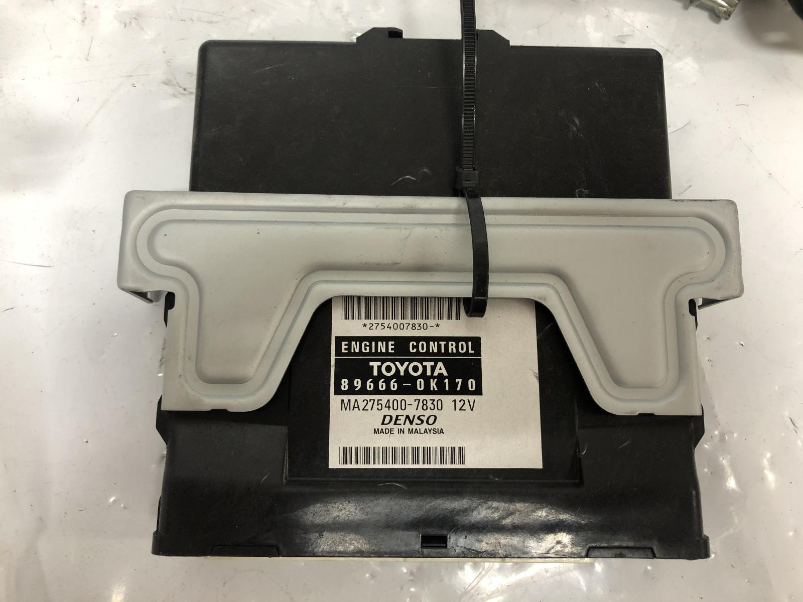 TOYOTA HILUX, Ecu, ENGINE ECU, 2.7, 2TR-FE, PETROL, MANUAL, P/N 89666-0K170, SEC SET (ECU/IMM/READER/KEY), 03/05-08/15