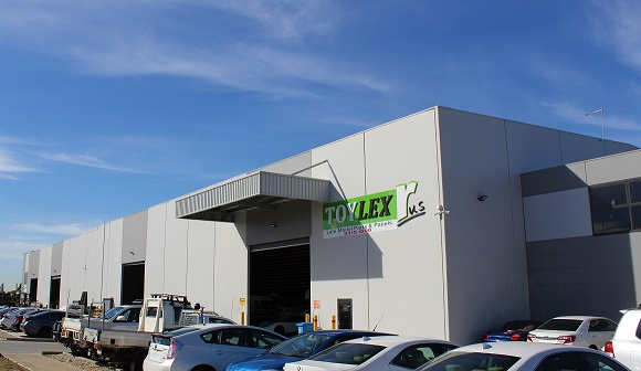 TOYLEX R Us front of brand new factory at 100 Castro way Derrimut